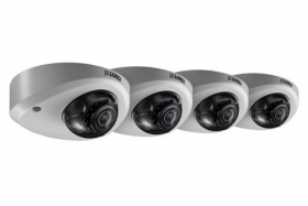 Mini Audio HD IP 2K Metal Dome Security Camera, 150ft Color Night Vision (4-pack)