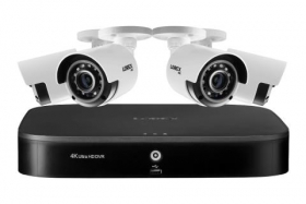 Lorex 4KA84 4K Ultra HD 8-Channel Security System with Four 4K (8MP) Cameras, Advanced Motion Detection and Smart Home Voice Control