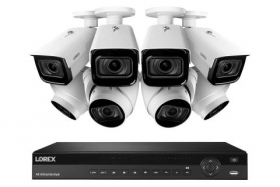 Lorex 4K Nocturnal IP NVR System with N882A63B 16 Channel 3TB NVR,LNB9292B Bullet and LNE9292B Dome Camera with Audio, 4x Optical Zoom, 30FPS, 150ft IR Night Vision, CNV