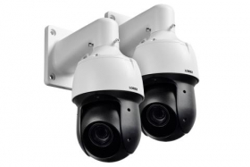 1080p HD Outdoor PTZ Camera with 25× Optical Zoom, Color Night Vision, Metal Camera (2-pack)
