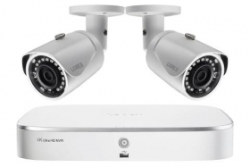 2K IP Security Camera System with 8-Channel NVR and 2 Outdoor 5MP Cameras