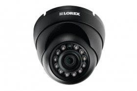Lorex LEV1512 Indoor/Outdoor 720p HD Weatherproof MPX Security Dome Camera, 3.6mm, 112ft IR Night Vision, Works with DV800/900, LHV5100/5100W Series DVR, Black (Camera Only)