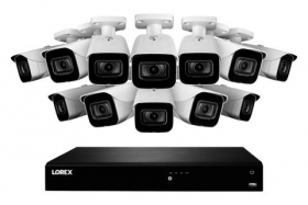 4K Ultra HD IP NVR System with 12 Outdoor 4K (8MP) IP Cameras, 130ft Night Vision