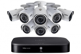 1080p HD Home security system with 8 outdoor cameras, 150ft night vision, 16 channel DVR with 2TB hard drive