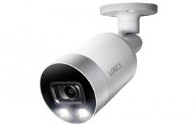 Lorex E891AB Indoor/Outdoor 4K Ultra HD Smart Deterrence IP Security Bullet Camera, 150ft IR Night Vision, Color Night Vision, Audio, Works with N841, N842, N861B, N881B Series NVR,Only Camera (M. Refurbished)