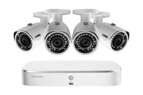 2K (4 Megapixel) Home Security System with 4 IP Cameras, 130ft Color Night Vision