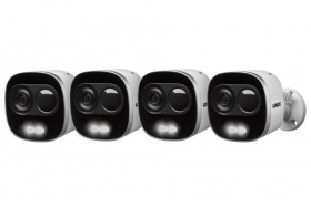 4K Active Deterrence Network Security Camera (4-pack)