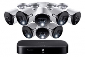 Lorex 4KAD88 4K Ultra HD 8-Channel Security System with 8 Active Deterrence 4K (8MP) Cameras, Advanced Motion Detection and Smart Home Voice Control