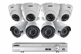 Lorex 2KMPX844D 2K Super HD  8 Channel  DVR Security Camera System with 8 Outdoor Cameras, 150FT Night Vision,