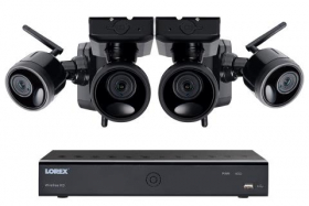 1080p Outdoor Wireless Camera System, 4 Rechargeable Wire Free Battery Powered Black Cameras, 75ft Night Vision, 1TB Hard drive, No Monthly Fees