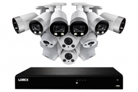 16-Channel 4K Ultra HD IP NVR System with Six Metal 4K (8MP) Smart Deterrence Cameras and Six Metal 4K (8MP) Audio Varifocal Zoom Lens Cameras