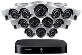 Lorex 4KA166 4K Ultra HD 16-Channel Security System with Sixteen 4K (8MP) Cameras, Advanced Motion Detection and Smart Home Voice Control