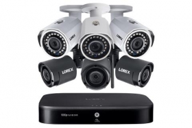 Lorex L182W 8-Channel Wired/Wireless System with 3 Wireless and 3 HD 1080p Resolution Security Cameras