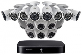 Lorex 2KA166BD 2K Super HD 16-Channel Security System with Sixteen 2K (5MP) Cameras, Advanced Motion Detection and Smart Home Voice Control