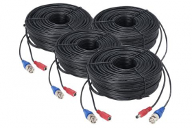 100ft (30m) Premium 4K RG59/Power Accessory Cable (4-pack)