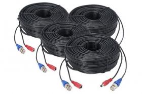 Lorex CB100UB4K 100ft (30m) Premium 4K RG59/Power Accessory Cable (4-pack)