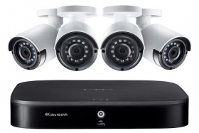 Lorex LX1080-44BW 8-Channel HD Security Camera System with Four 1080p Outdoor Cameras, 130ft Night Vision, 1TB Hard Drive