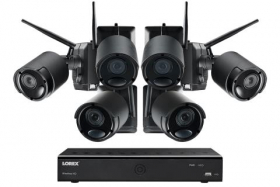 1080p Wire Free Camera System with Six Battery Powered Metal Cameras, 65ft Night Vision, Two-Way Audio, and a 1TB Hard Drive (Extra 3-cell Battery Included)