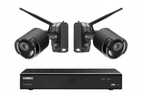 Lorex LWF2080B-62 1080p Wire Free Camera System with Two Battery Powered Metal Cameras, 65ft Night Vision, Two-Way Audio, 1TB Hdd,(M.Refurbished)