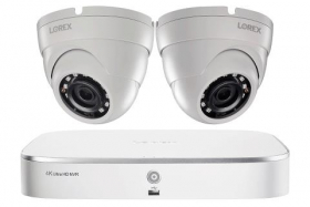2K IP Security Camera System with 8-Channel NVR and 2 Outdoor 5MP Dome Cameras