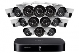 Lorex LX1081-166 1080p HD 16-Channel Security System with Sixteen 1080p HD Outdoor Cameras, Advanced Motion Detection and Smart Home Voice Control
