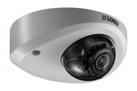 Mini Audio HD IP 2K Metal Dome Security Camera, 150ft Color Night Vision
