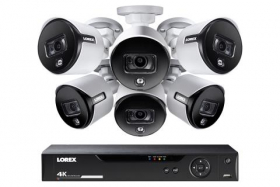 4K Ultra HD 8 Channel Security System with 6 Active Deterrence 4K (8MP) Cameras