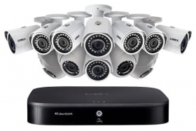 16-Channel Security System with Twelve 1080p HD Outdoor Cameras, Advanced Motion Detection and Smart Home Voice Control