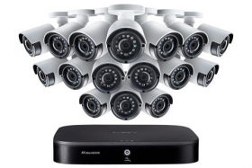 Lorex LX1080-166BW 16-Channel Security Camera System with Sixteen 1080p Outdoor Cameras, 130ft Night Vision, 3TB Hard Drive