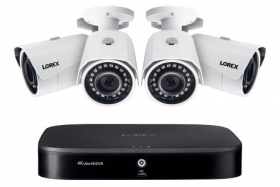 Lorex 2KA84 2K Super HD 8-Channel Security System with Four 2K (5MP) Cameras, Advanced Motion Detection and Smart Home Voice Control