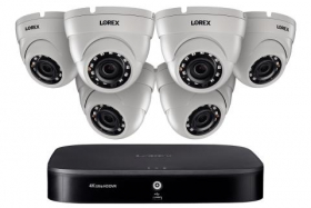 Home Security System with 4K DVR, Six 1080p Outdoor Metal Cameras, 3TB Hard Drive, 130ft Night Vision