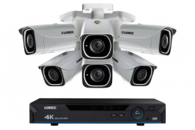 4K IP Camera System with 6 Ultra HD 4K Metal Cameras, 130ft Color Night Vision