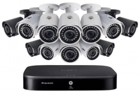Outdoor Surveillance System with 8 HD 1080p Cameras and 4 HD 1080p Wireless Cameras