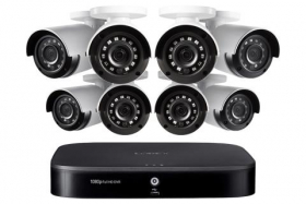 1080p HD 8-Channel Security System with eight 1080p HD Weatherproof Bullet Security Camera, Advanced Motion Detection and Smart Home Voice Control